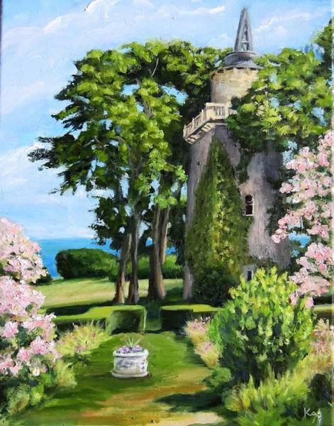 Conn Wall Art - Painting - Harkness Memorial Park Tower Waterford Ct by Patty Kay Hall