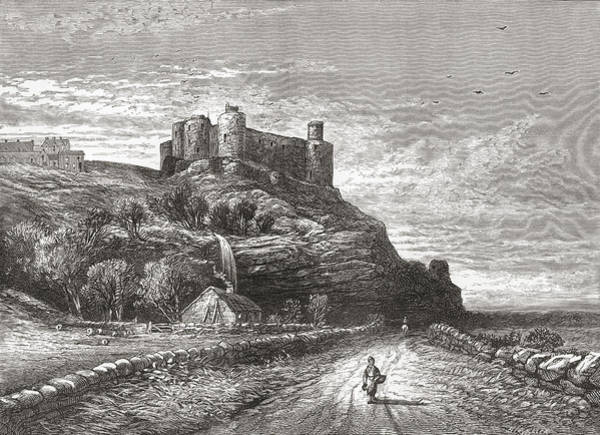Wales Drawing - Harlech Castle, Located In Harlech by Vintage Design Pics