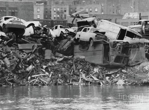 Photograph - Harlem River Junkyard, 1967 by Cole Thompson