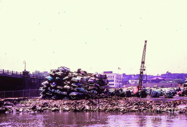 Photograph - Harlem River Junkyard by Cole Thompson