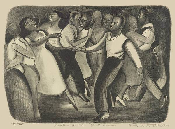 Drawing - Harlem W P A Street Dance Elizabeth Olds 1937 by Movie Poster Prints