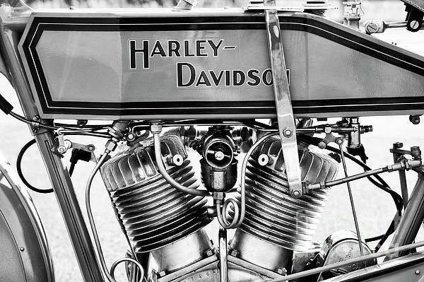 Wall Art - Photograph - Harley 11f Monochrome by Tim Gainey