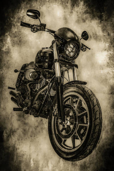 Photograph - Harley 6725 Bw_2 by Steven Ward