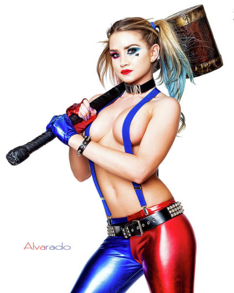 Harley Quinn Wall Art - Photograph - Harley And Her Hammer by Robert Alvarado