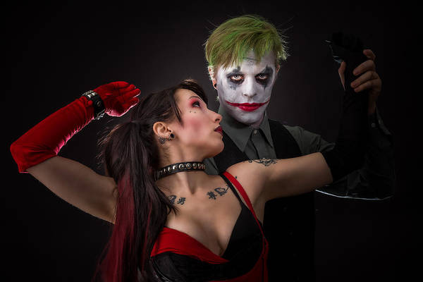 Photograph - Harley And The Joker by Rikk Flohr