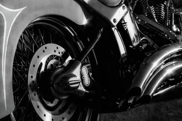 Photograph - Harley B W 5895 Bw_2 by Steven Ward