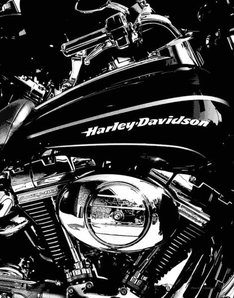 Photograph - Harley Black And White by Coleman Mattingly