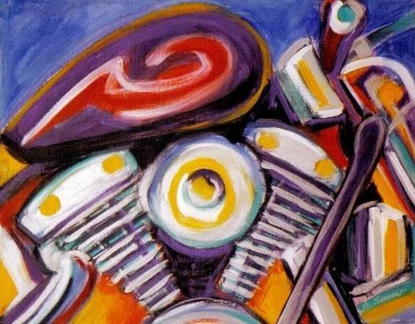Painting - Harley Closeup by Anita Burgermeister