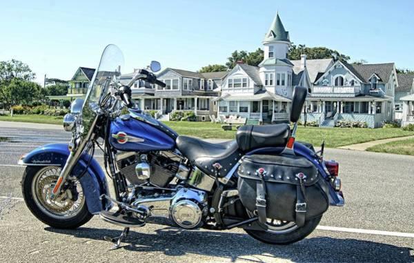 Photograph - Harley Davidson At Oak Bluffs by David Birchall