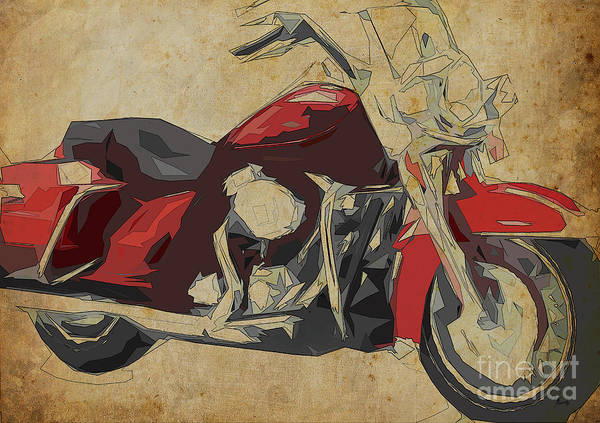 Wall Art - Painting - Harley-davidson Flhr Road King - 2013 by Drawspots Illustrations