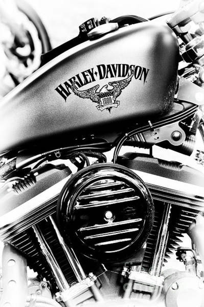 Harley Davidson Black And White Wall Art - Photograph - Harley Davidson Iron Motorcycles by Tim Gainey