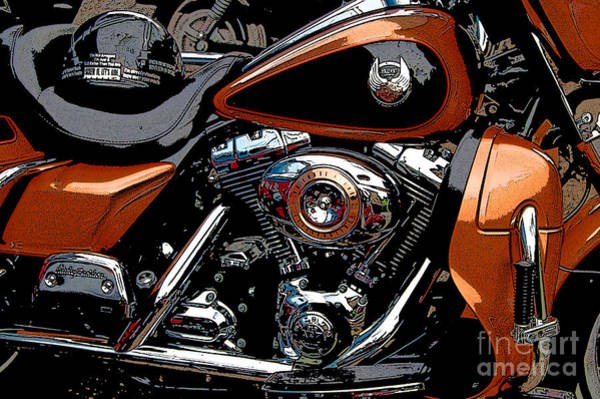 Diane Berry Photograph - Leather And Chrome by Diane E Berry