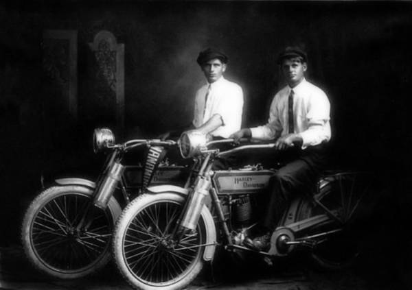 Wall Art - Photograph - The Founders Of Harley Davidson Motorcycles by Doc Braham