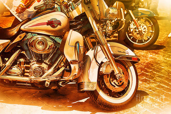 The Patriot Photograph - Harley Davidson Motor Cycles by Stefano Senise