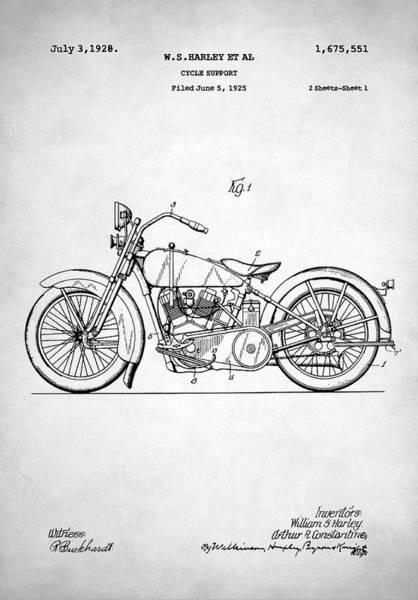 Wall Art - Digital Art - Harley Davidson Patent by Zapista Zapista