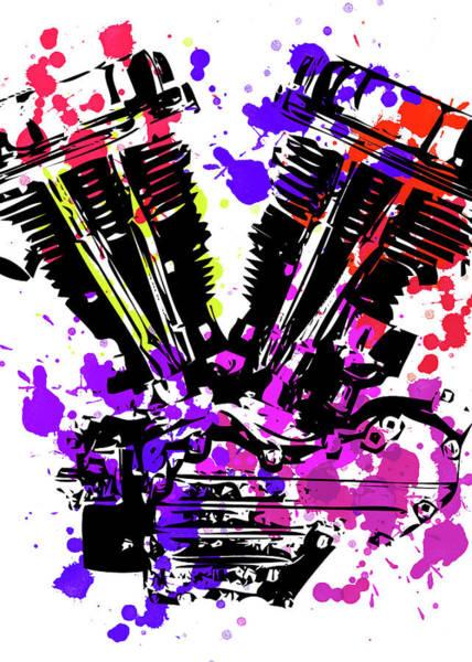 Wall Art - Digital Art - Harley Davidson Pop Art 3 by Ricky Barnard