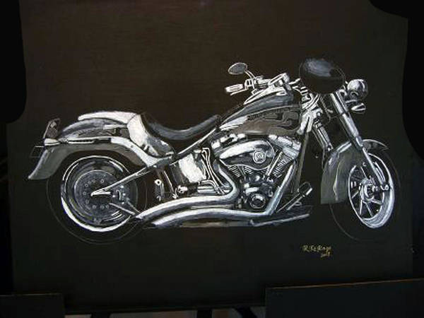 Painting - Harley Davidson by Richard Le Page