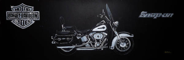 Painting - Harley Davidson Snap-on by Richard Le Page