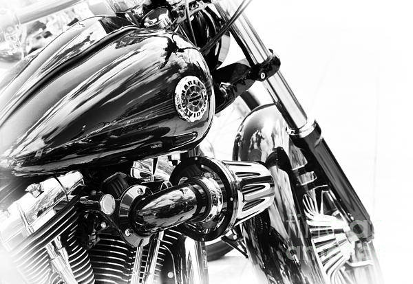 Harley Davidson Black And White Wall Art - Photograph - Harley Davidson Softail Breakout by Tim Gainey