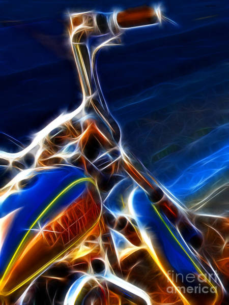 Photograph - Harley Electrified by Wingsdomain Art and Photography