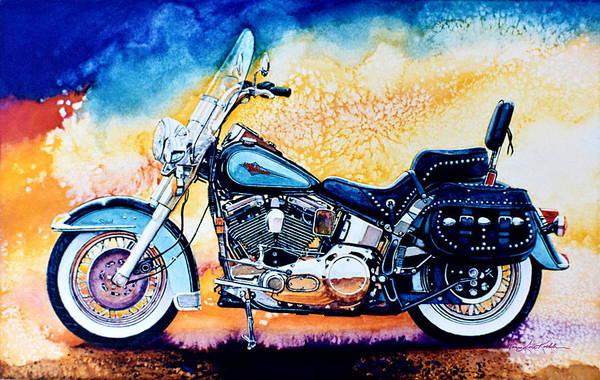Harley Motorcycle Wall Art - Painting - Harley Hog I by Hanne Lore Koehler
