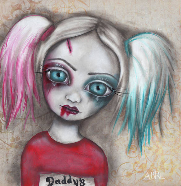 Harley Quinn Wall Art - Painting - Harley Quinn by Abril Andrade Griffith