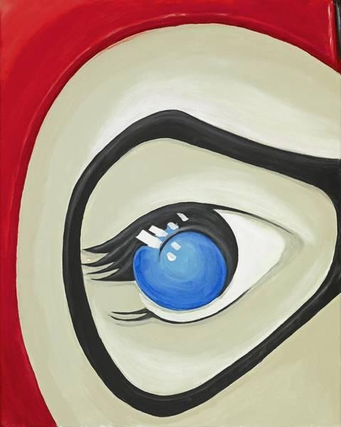 Harley Quinn Wall Art - Painting - Harley Quinn Eye by David Junod