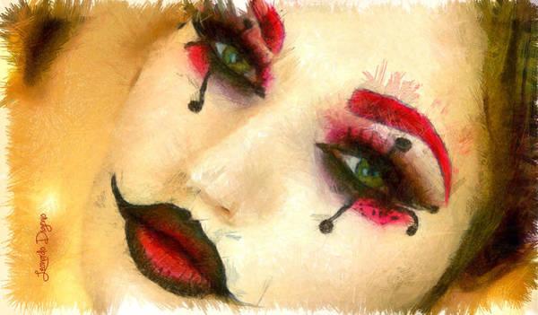 Robbie Digital Art - Harley Quinn Face - Da by Leonardo Digenio
