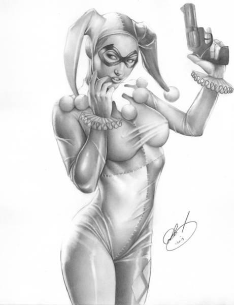Harley Quinn Wall Art - Painting - Harley Quinn by Pete Tapang