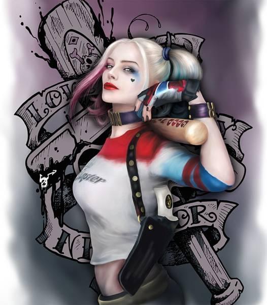 Harley Quinn Wall Art - Digital Art - Harley Quinn by Silviq Yoncheva