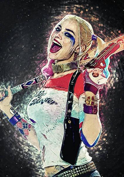 Robbie Digital Art - Harley Quinn by Zapista Zapista