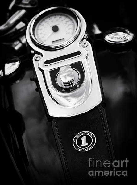 Glide Photograph - Harley Superglide by Tim Gainey