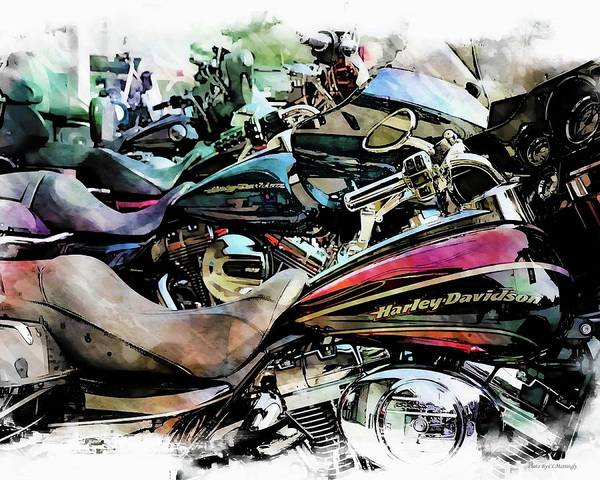 Photograph - Harleys At Rest by Coleman Mattingly