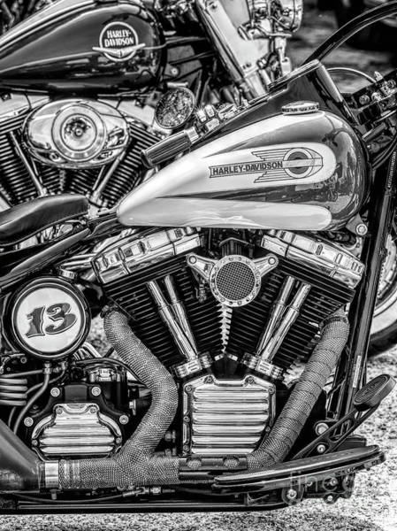 Wall Art - Photograph - Harleys Black And White by Tim Gainey