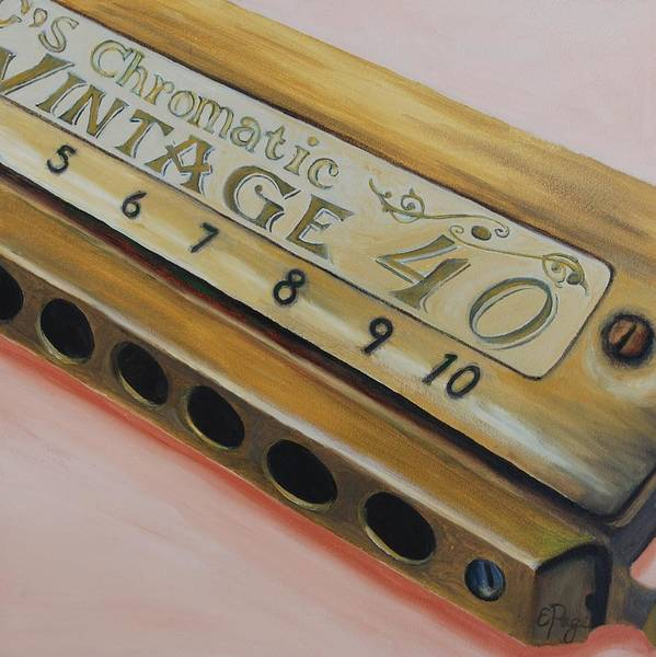 Painting - Harmonica by Emily Page
