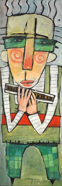 Wall Art - Painting - Harmonicat by Tim Nyberg