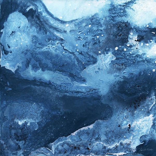 Mineral Wall Art - Mixed Media - Harmonious Blues- Art By Linda Woods by Linda Woods
