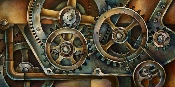 Machinery Painting - Harmony 2 by Michael Lang