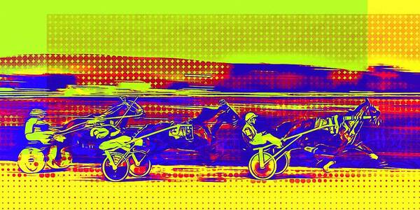 Photograph - Harness Race Pop Art by Tatiana Travelways