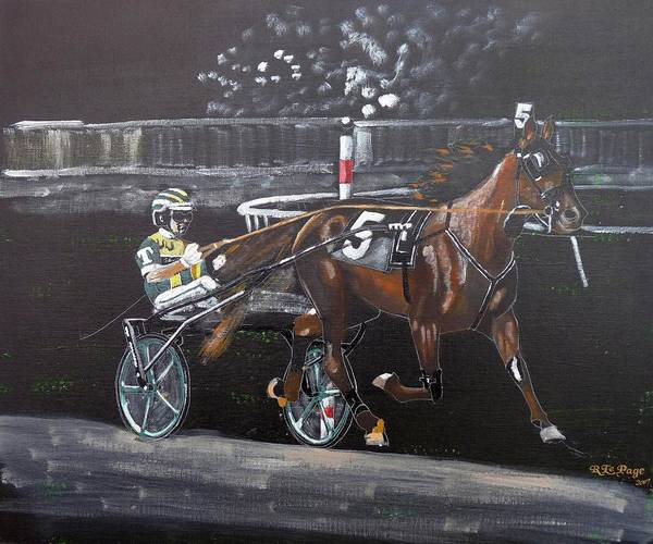 Painting - Harness Racing by Richard Le Page