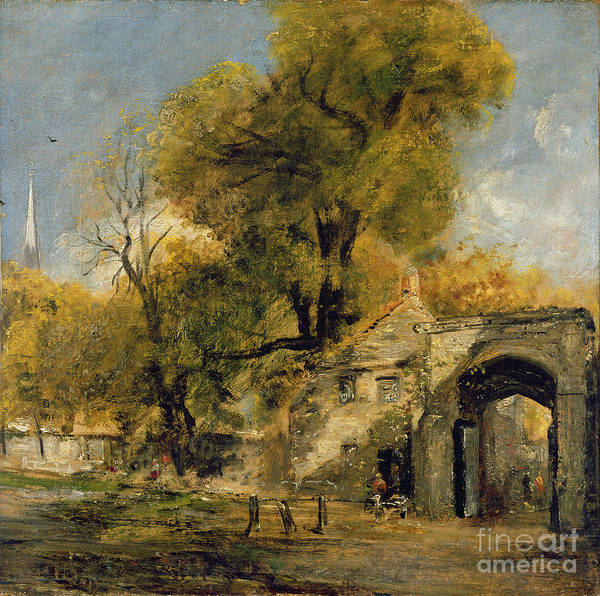 Village Gate Photograph - Harnham Gate - Salisbury by John Constable