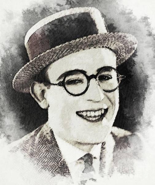 Lloyd Digital Art - Harold Lloyd, Vintage Actor by John Springfield