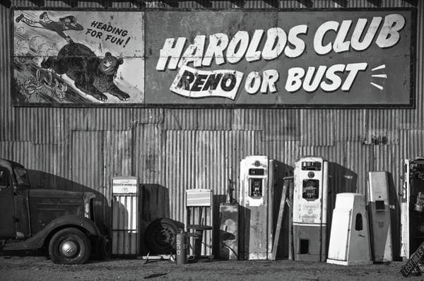 Car Wash Photograph - Harold's Club by Marius Sipa