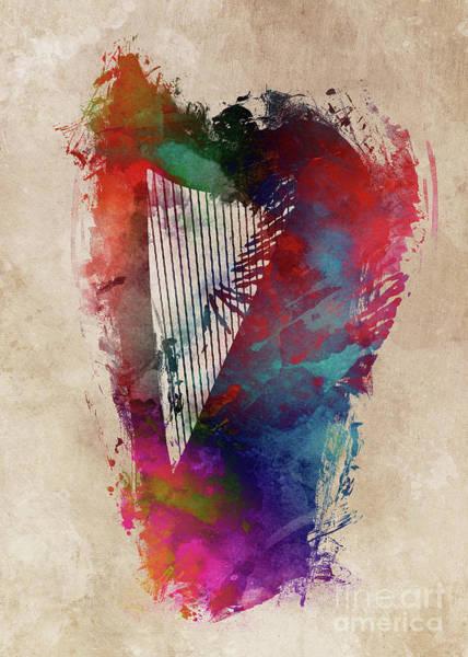 Harp Digital Art - Harp Art by Justyna Jaszke JBJart