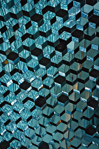 Photograph - Harpa Concert Hall Ceiling - Iceland by Stuart Litoff