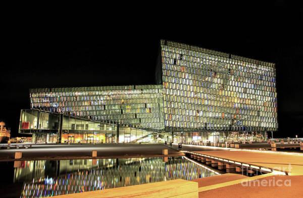 Concert Hall Photograph - Harpa, Reykjavik by Jasna Buncic
