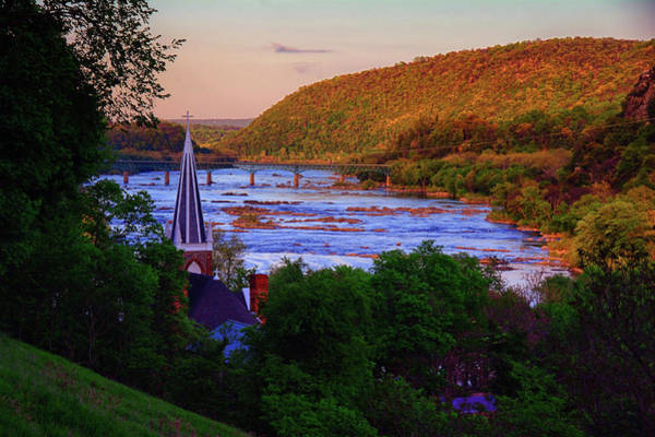 Photograph - Harpers Ferry At Sunset by Raymond Salani III