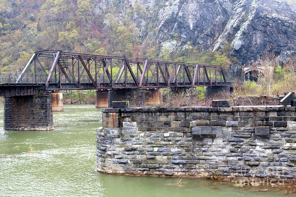 Photograph - Harpers Ferry Railroad Bridge by Carol Groenen
