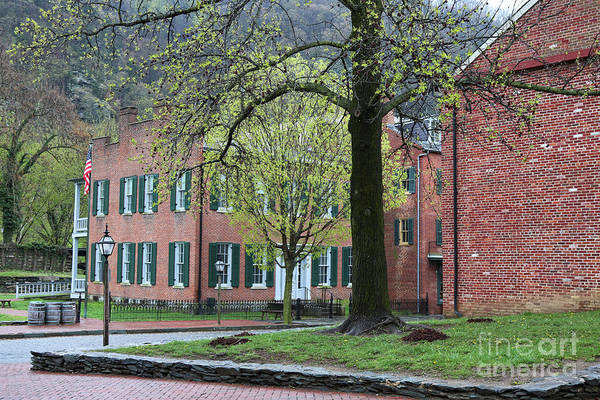 Photograph - Harpers Ferry With Spring Trees by Carol Groenen