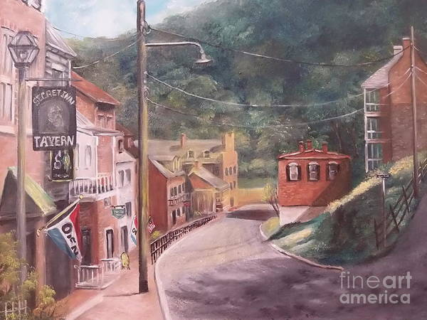 Wall Art - Painting - Harpers Ferry West Va by Patricia Lang